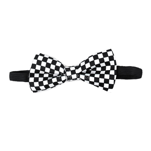Kids Toddler Checker Matching Set Suspender and Bow Tie