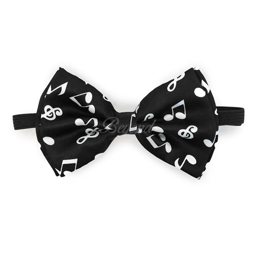 Music Notes Matching Set Suspender and Bow Tie