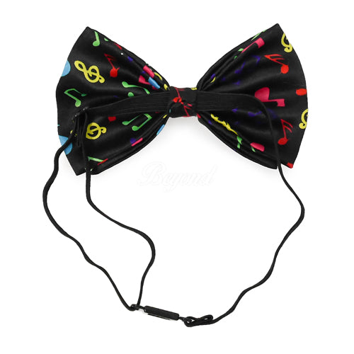 Rainbow Music Notes Bow Tie