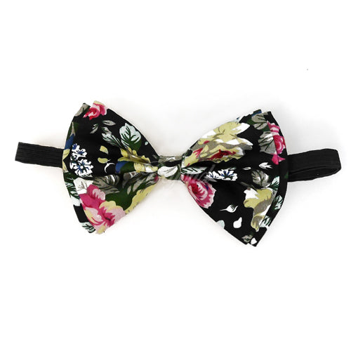 Adult Bow Ties - Black Floral Bow Tie