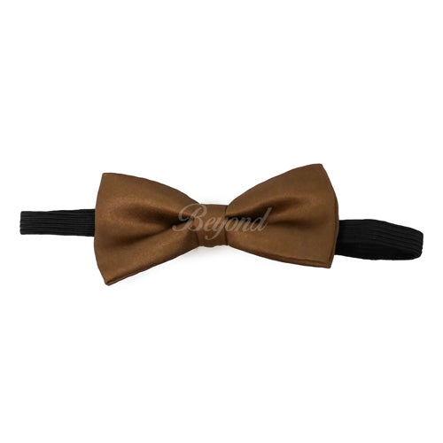 Kids Toddler Dark Brown Matching Set Suspender and Bow Tie