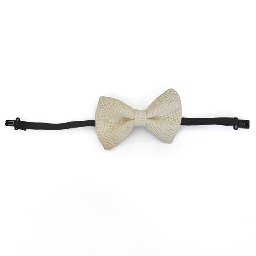 Adult Bow Ties - Burlap Ivory Bow Tie