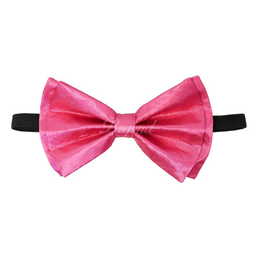 Neon Pink Matching Set Suspender and Bow Tie
