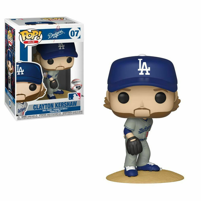 Funko POP!: Baseball Grey Jersey Clayton Kershaw Collectible Figure with protector