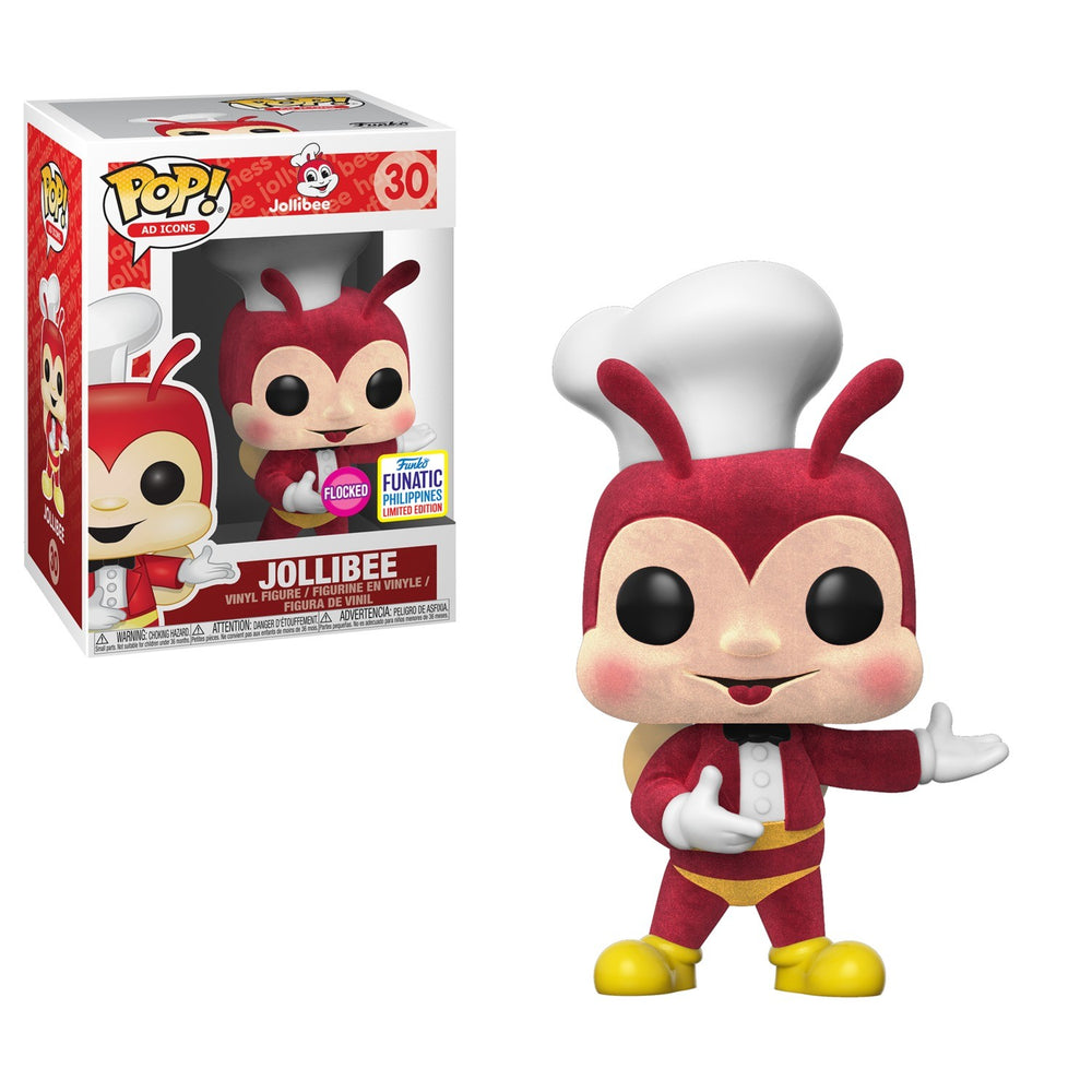 Pop Ad Icons Exclusive : Flocked Jollibee # 30 Funatic Philippines Limited Edition Vinyl Figure MINT/near Mint)