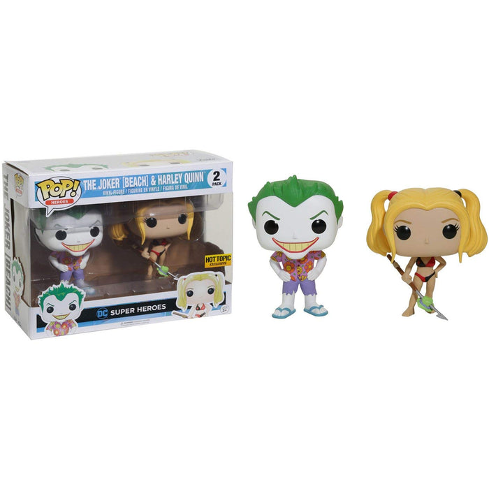 Hot Toppic Exclusive: DC Super Heroes - The Joker ( Beach) & Harley Quinn Vinyl Figure Pack