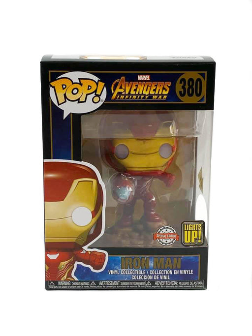Funko Pop! MARVEL Avengers Infinity War - Iron Man (LIGHTS UP!) VINYL FIGURE #380 SPECIAL EDITION EXCLUSIVE