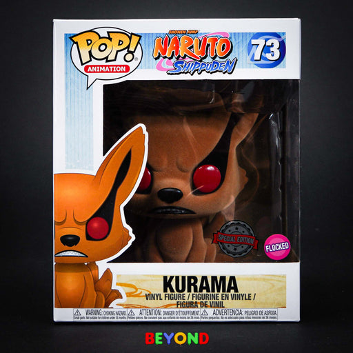 "Funko Pop! Animation: Naruto Shippuden Kurama (Flocked) 6"" Vinyl Figure #73"