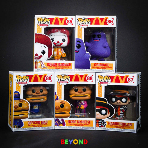 Funko Pop! McDonald and Friends - Ronald Grimace Big Mac Mayor McCheese Hamburglar Set of 5