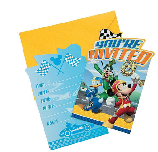 Mickey Mouse Roadster Invitations 8ct