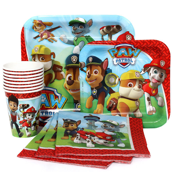 Paw Patrols Combo Party Express Pack for 8 Guests (Cups Napkins & Plates)