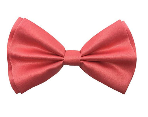 Adult Bow Ties - Coral Pink Bow Tie
