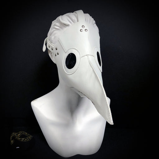 Men's Masks: Plague Doctor Masks - Raven Bird Mask White Masquerade Mask Goggle Eyes