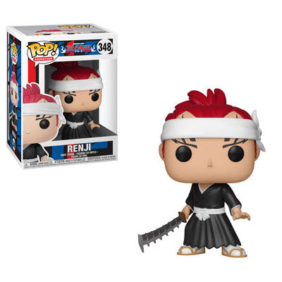 Funko Pop Animation : Bleach : Renji #348 Vinyl Figure with .5mm pop protector case