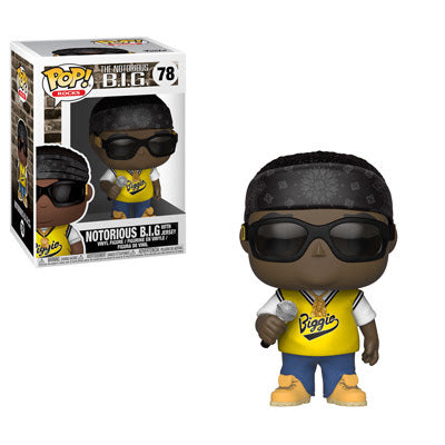 Funko Pop Rocks: Music - Notorious B.I.G. in Jersey Collectible Vinyl Figure #78 with protector case