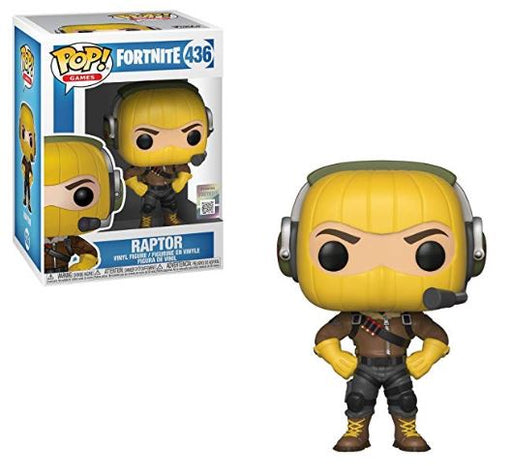 Funko Pop Games : Fortnite : Raptor #436 Vinyl Figure with .5 mm Protector Case