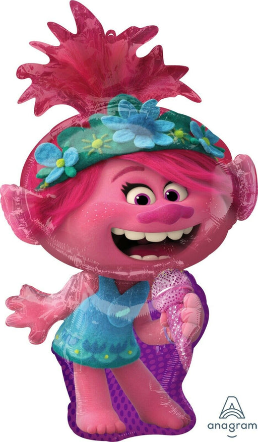 "Trolls World Tour 37"" Poppy Supershape Jumbo Balloons Party Supplies"