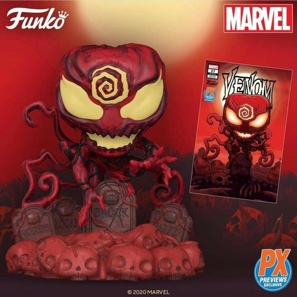 [PRE-ORDER] Funko Pop! MARVEL Heroes Absolute Carnage 673 Deluxe Vinyl Figure PX Previews Exclusive + Comic Bundle