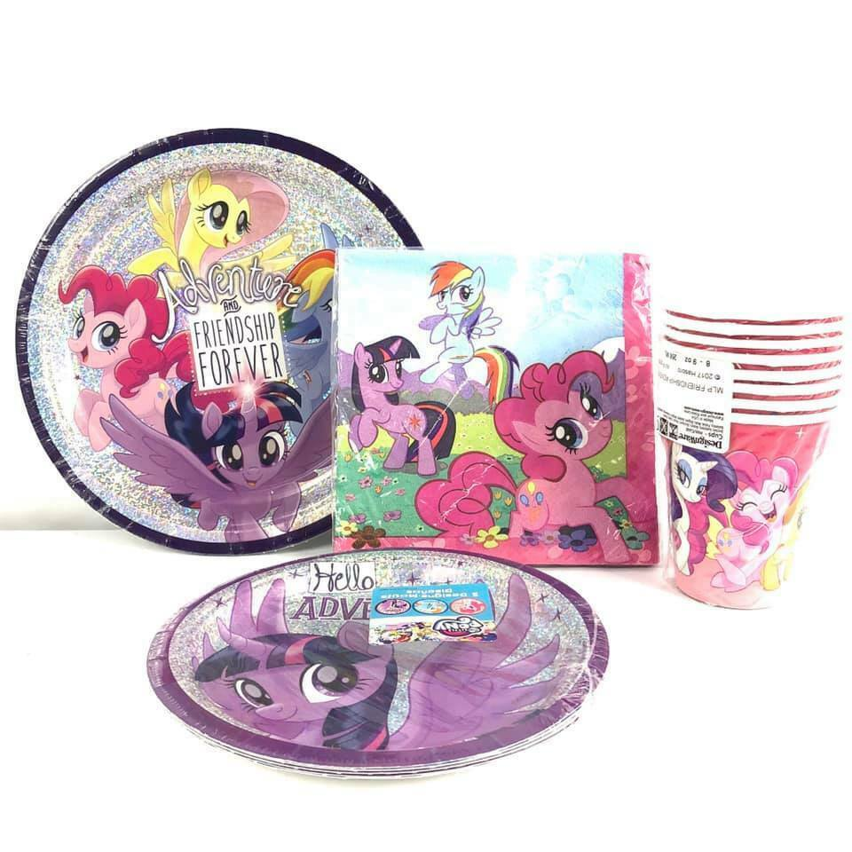 My Little Pony Combo Party Express Pack for 8 Guests (Cups Napkins & Plates)