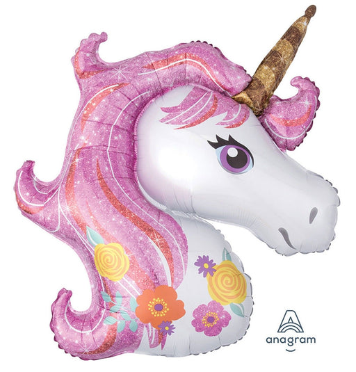 Sparkling Unicorn Foil Balloon Party Supplies 33""