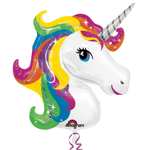 Sparkling Unicorn Foil Balloon Rainbow Party Supplies 33""