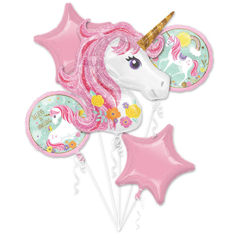 Magical Unicorn Balloon Bouquet Fairytale Party