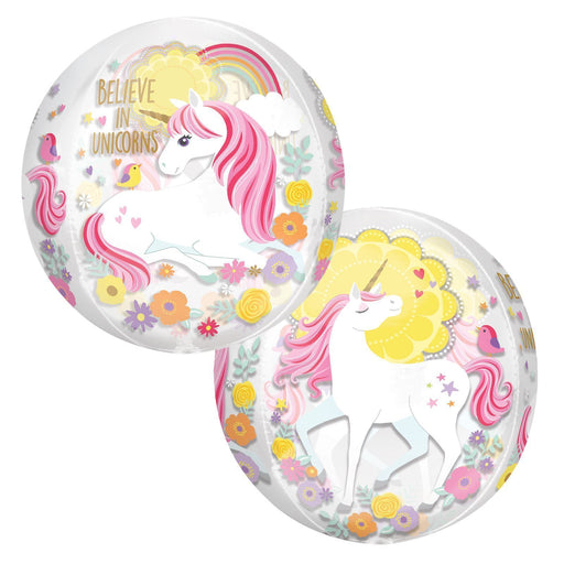 "Magical Unicorn Balloons ""Believe in Unicorns"" See-through Version"