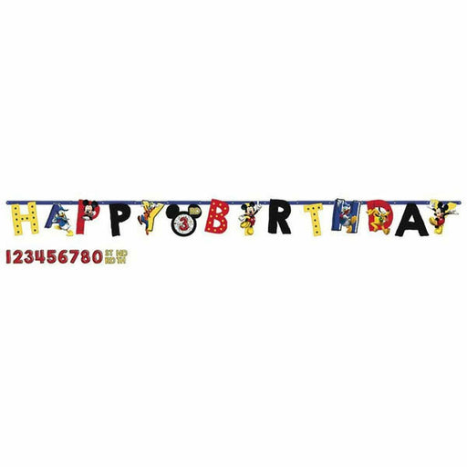 Disney Mickey Mouse On The Go Add an Age Happy Birthday Jumbo Letter Banner Kit