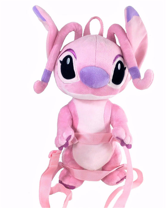 Disney Lilo and Stitch Angel Pink Plush Doll Backpack 16""