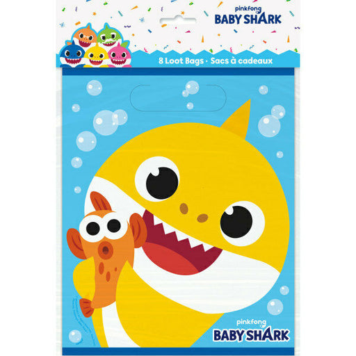 Baby Shark: Loot Bags - Favor Bags 8ct