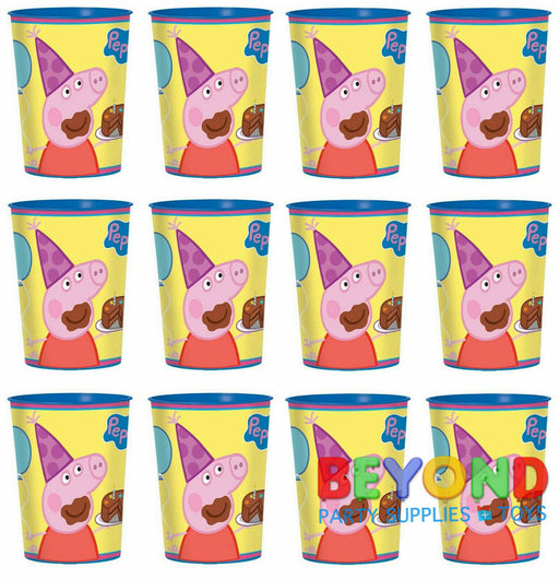 Peppa Pig High Quality Reusable Birthday Party Plastic Cups x 12