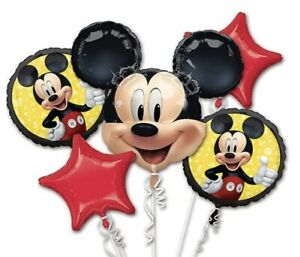 Disney: Mickey Mouse - Balloon Bouquet 5pc HELIUM NOT INCLUDED