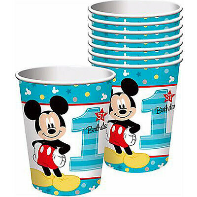 Mickey 1st Birthday Party Fun To Be One Paper Cups (8 Count)