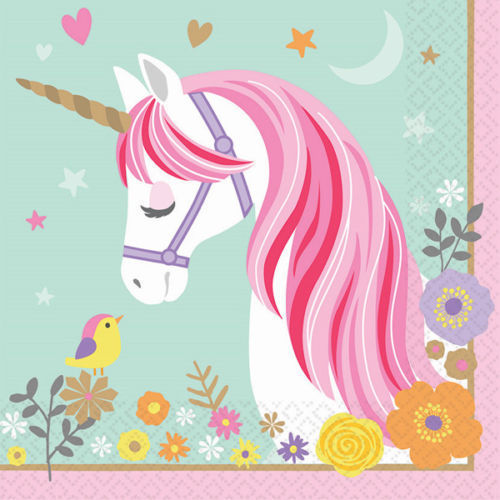Magical Unicorn Party Supplies Tableware Napkins 16CT