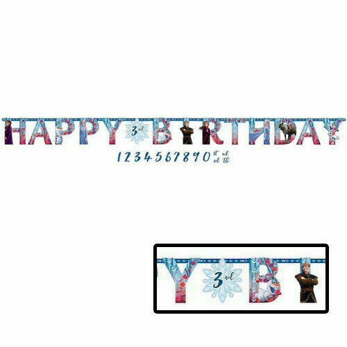 Frozen 2 Birthday Banner Kit With Customize-able Age