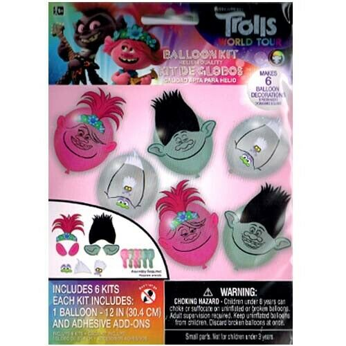 Trolls World Tour: Latex Balloons Decorating Kit 6ct