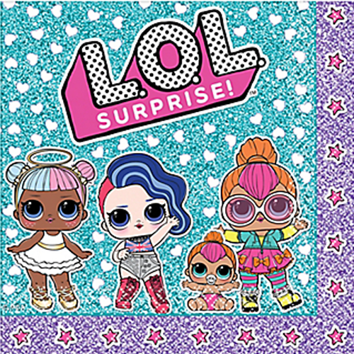 LOL SURPRISE LUNCH NAPKINS (16) ~ Birthday Party Supplies