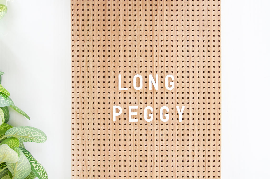Long Peggy rectangle + leather handle