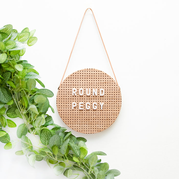 Round Peggy peg board