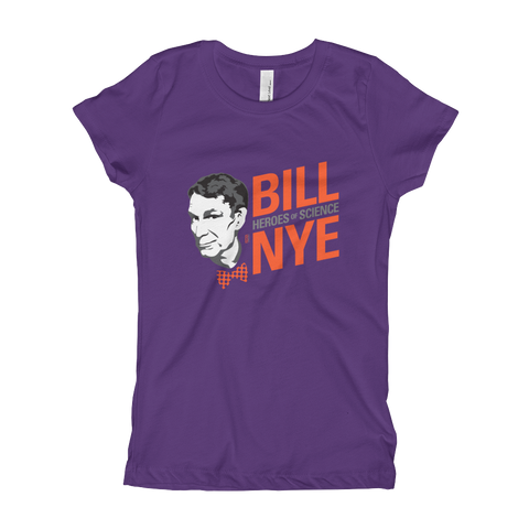 Bill Nye - Hero of Science Girl's T-Shirt