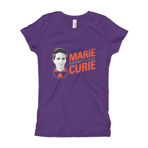 Marie Curie - Heroine of Science Girl's T-Shirt