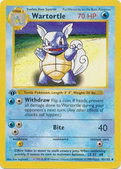 Wartortle 1st Edition Base Set Pokemon