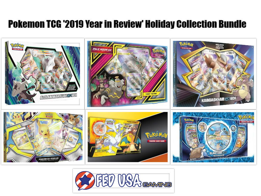 Pokemon TCG '2019 Year in Review' Holiday Collection Bundle