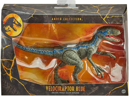 Jurassic World Amber Collection Velociraptor Blue Action Figure 6 Inch