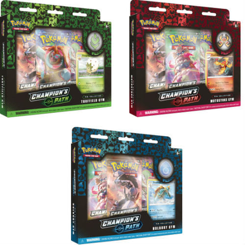 Pokemon TCG Champion's Path Pin Collections Set of 3 (Turffield, Hulbury, Motostoke Gyms)