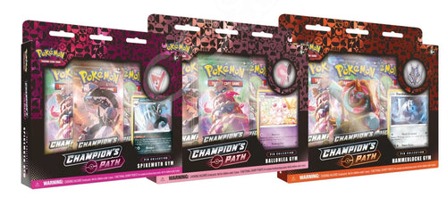 Pokemon TCG Champion's Path Pin Collections Set of 3 (Ballonlea, Spikemuth, & Hammerlocke Gyms)