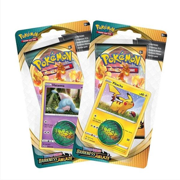 Pokemon TCG Sword & Shield Darkness Ablaze Checklane Blister Packs Set of 2 SWSH3