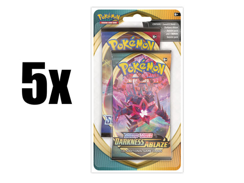 Pokemon TCG Sword & Shield Darkness Ablaze 5x Bonus 2-Pack Blister Pack SWSH3