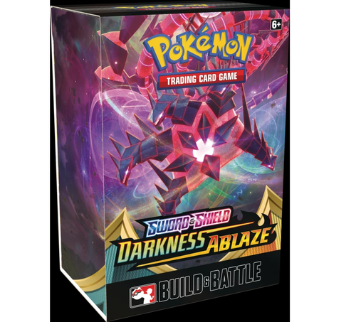 Pokemon TCG Sword & Shield Darkness Ablaze Build and Battle Box Prerelease Kit SWSH3