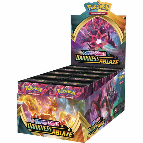 Pokemon TCG Sword & Shield Darkness Ablaze Build and Battle Box Display of 10 Prerelease Kits SWSH3